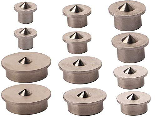 Holzdübel-Zentrierspitzen, Anlising 12 Stück Positionieren von Holz Punkte Pin Set Dübel Zentrierspitze für Holzarbeiten Bohrwerkzeuge Ausrichtungswerkzeug für Holzarbeiten Bohrwerkzeuge