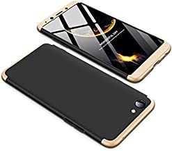 Case OPPO F7 Youth 360 Degrees protective Cover + tempered glass film High quality, 3 in1 Full Body protection Bumper hard phone Case Ultra-thin Skin Case,for OPPO F7 Youth (Black Gold)