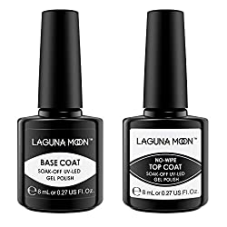 ✓Long lasting gel base and top coat set: Lasting more than 21 days with proper application,perfect mirror shine finish.No nicks,chips or smudges. ✓Safe and natural gel top coat and base coat:Complete safety certification;Natural, Not harmful to human...