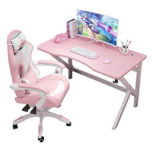 Gaming-Tisch Rosa Computer-Desktop-Tisch Spiel Home Broadcast-Tisch...