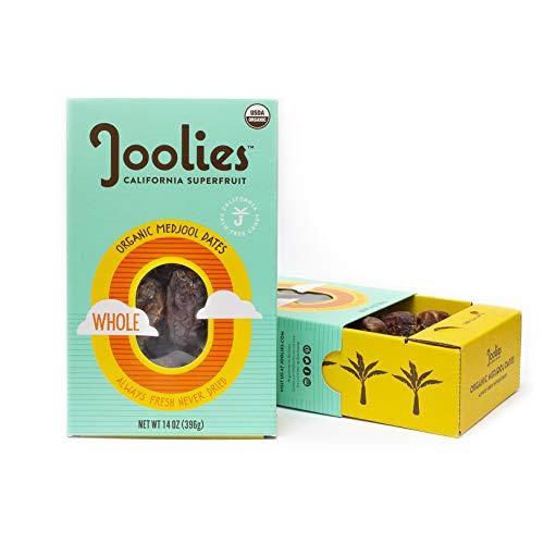 Joolies - Organic Medjool Dates, Whole (14 Ounce) - 2 Pack, California Grown, Good Source of Fiber
