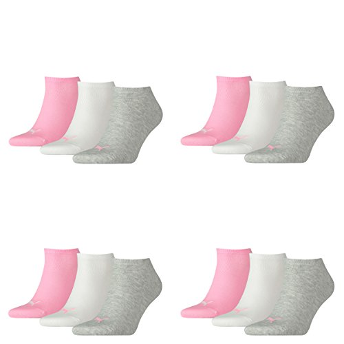 12 Paar PUMA Sneakersocken im Vorteilspack (Prism Pink, 12 Paar 39/42)