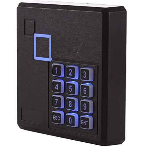 UHPPOTE Proximity RFID ID Card Door Access Control Keypad Reader 125KHz Wiegand 26 Bit Color Black