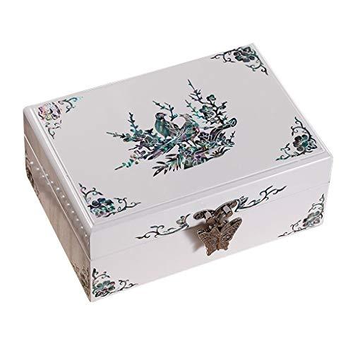Li Jian Limited company Joyero Cajas para Joyero Caja De Joyería Joyería De Viaje Estilo Europeo Blanco Joyería Joyería Joyería Joyería Joyería Regalo De Boda (Color : Blanco, Size : 11 * 7 * 16cm)