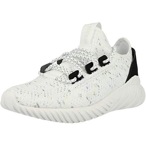 adidas Unisex Kinder Tubular Doom Sock Pk J Fitnessschuhe, Weiß Ftwbla Ftwbla schwarz, 36 2/3 EU