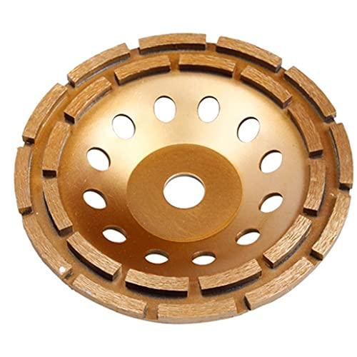 Copa de molienda de Muelle Doble Fila abrasiva 230mm Diamante de hormigón de Piedra Molinillo de Pulido