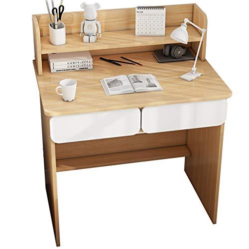 MQH Escritorio Escritorio de computadora y combinación de estantería, Tabla de Escritura de Oficina en el hogar Muebles Modernos Estudio Simple Maquillaje Estación de Trabajo Escritorios de Oficina
