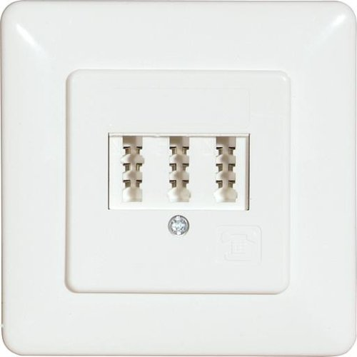 Prüwer 1-675.05.5.19 UP-TAE-Telefonsteckdose 3-fach für 2 Fernsprechapparate und, Sonstige