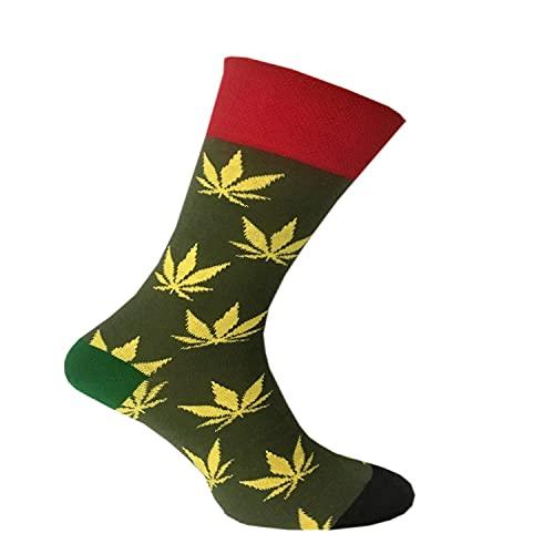 CHiLI Lifestyle Socks - Motivsocken - Lustige Socken - Bunte Socken - Witzige Socken - verrückte, modische & ausgefallene Socken - Geschenkidee - Baumwolle - Variation: Joint, 41-45