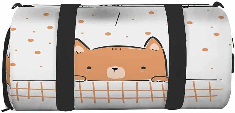 IBILIU Cute Dog Wanna Play Special sale item Gym Bag Duffel safety Women Spor for Men