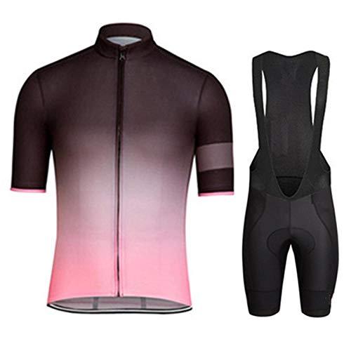 HXTSWGS Ropa Ciclismo Verano para Hombre Ciclismo Maillot,Conjuntos de Ropa de Ciclismo/Conjuntos de Camisetas de Ciclismo de Manga Corta de Verano para Hombre Transpirable Ropa-A07_L