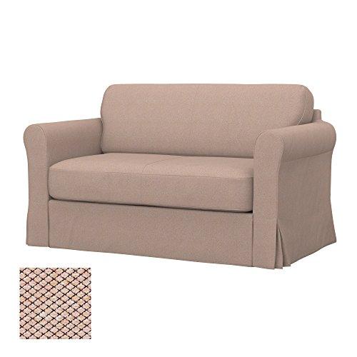 Soferia Replacement Cover for IKEA HAGALUND Sofa-Bed, Fabric Nordic Beige