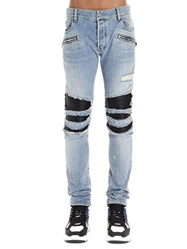 Luxury Fashion | Balmain Heren TH05419Z2506AA Donkerblauw Katoen Jeans | Lente-zomer 20