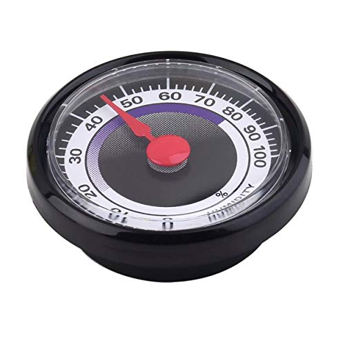 Caroline Philipson 1 Pc Mini Esatta Portatile Durevole Analogico Igrometro Tester di umidità del Mini Power-Libero per Interni Esterni Uso Domestico - Nero