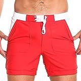 Taddlee Men Swimwear Swimsuits Solid Basic Long Swim Boxer Trunks...