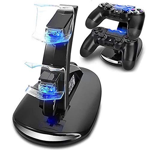 PS4 Dual Controller Caricatore, Likorlove Stazione di Ricarica per PS4, Dual USB Supporto di Carico del Caricatore per Playstation 4 PS4 / PS4 Pro / PS4 Slim Wireless Controller