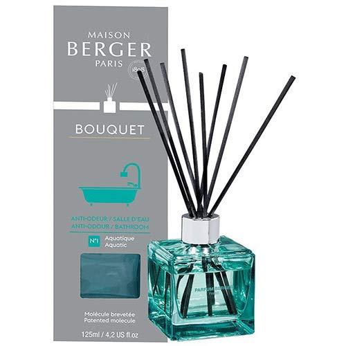Lampe Berger Duftbouquet Cube Anti Odeurs Salle d'Eau N ° 1 Aquatique / Anti Badezimmergerüche N ° 1 Aquatisch 125 ml