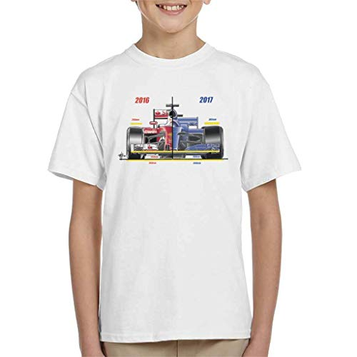 Motorsport Images Ferrari SF16 H Regulations vergelijken Kid's T-shirt