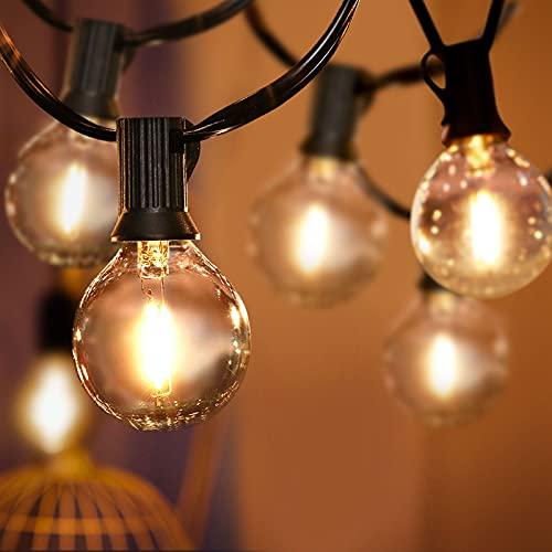 Lichterkette, Tencoz 10M 30 LED Lichterkette Glühbirnen Wasserdicht Outdoor Lichterkette mit 6 Ersatzbirnen, Plug In Warmweiß Retro Bleuchtung für Garten Weihnachten Bäume Party Hochzeit