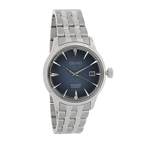 Seiko Men's Presage 23 Jewel Automatic Blue Dial Watch with, Blue, Size No Size