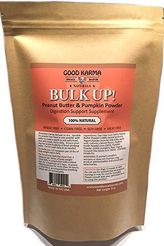 GOOD KARMA NATURALS All Natural Digestion Support  Diarrhea Relief & Anal Gland Health Supplement for Dogs Bulk Up 100% Natural Dog Digestive Fiber Pumpkin Powder (8oz Bag)