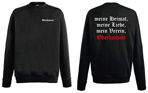 World of Shirt Herren Sweatshirt Oberhausen Ultras Meine Heimat