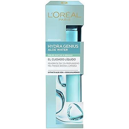 L'Oréal Paris Hydra Genius Cuidado Líquido Facial Hidratante, Para Uso Diario en Pieles Mixtas a Grasas, 70 ml