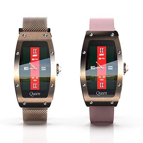 Lwwhama Monitoreo de la salud del reloj inteligente de las mujeres Monitoreo de la tarifa cardíaca Monitoreo de las tarifas del corazón Múltiples modos de ejercicio Shake para tomar fotos, llamadas re