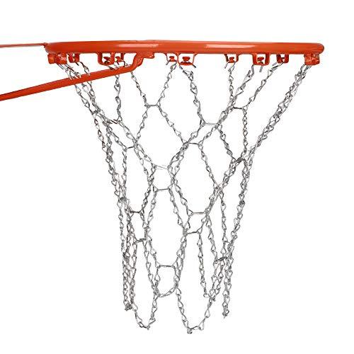 Tuxi - Red de baloncesto de acero resistente y galvanizada para baloncesto, cadena de acero galvanizado, cadena de baloncesto, cadena de acero de repuesto para baloncesto, red de baloncesto