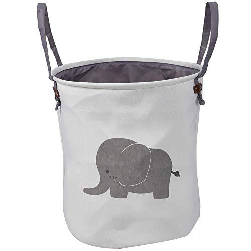 LYY Bolsa de cestas de Almacenamiento de algodón Organizador de hogar Redondo Plegable para guardería de bebés, Juguetes, lavandería, Ropa de bebé