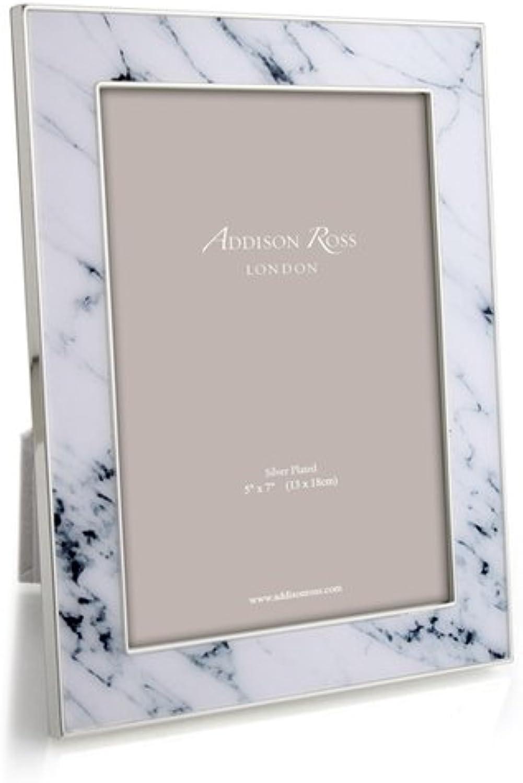 Addison Ross weiß Carrera Marmor emailierten Rahmen, weiß schwarz, schwarz, schwarz, 10 x 15 cm B01FB1W6PY | Ein Gleichgewicht zwischen Zähigkeit und Härte  0b96d6