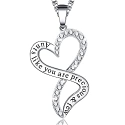 Gifts-for-Aunt-Aunt-Heart-Pendant-Necklace