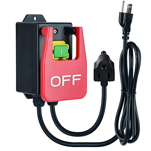 110V Single Phase On/Off Switch, Ortis Router Table Switch with Large Stop Sign Paddle Easy Contact for Quick Power Off for Table Saws and Other Electrical Equipment