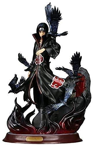 Anime Naruto Uchiha Itachi - Figura Pop de PVC, colección Akatsuki, cuervo combinado, juguete decorativo, figuras para animales, fanáticos