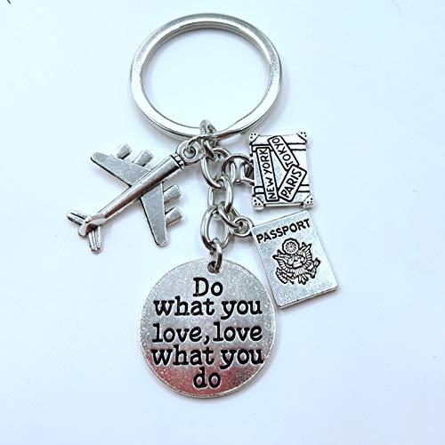 HXYKLM 1 stuks Aviator sleutelhangers bedels vliegtuig Passaporto sleutelhanger hoilday sleutelhanger reisleider sieraden geschenk van Laurea maken je van wat je diert!