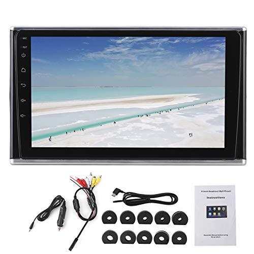 Yctze Coche MP5 Player -Monitor de reposacabezas de coche de 9 pulgadas, reproductor multimedia MP5 con pantalla táctil ABS con altavoz Bluetooth Universal para uso en el coche y el hogar