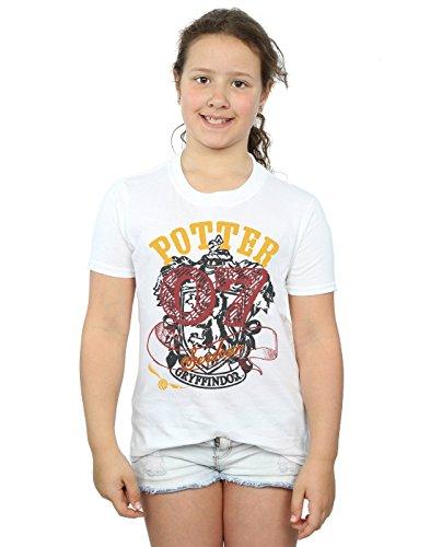HARRY POTTER niñas Gryffindor Seeker Camiseta 12-13 Years Blanco