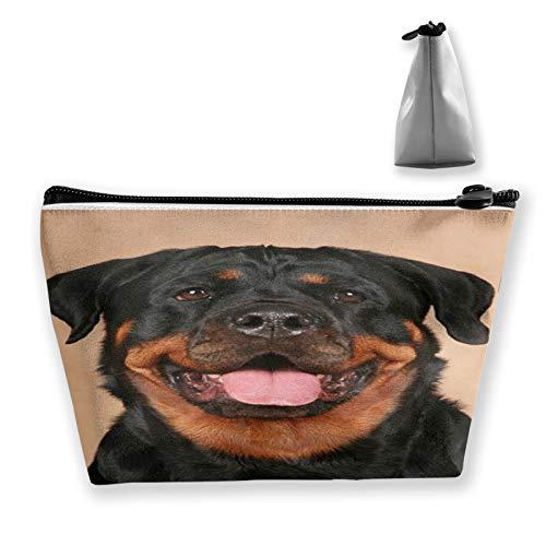 Bolsa de maquillaje de cara de perro pequeña bolsa de cosméticos linda impresión de oso bolsa de lavado de aseo organizador de belleza