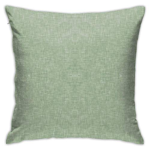 Solid Light Sage Green Linen Soft Square Throw Pillow Covers Cushion Case 45X45CM