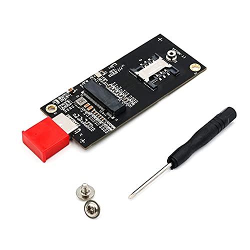 TSBB Adaptador M.2 a USB, Adaptador de Unidad SSD M.2 con Llave B USB 3.0 (no se Necesita Cable), para módulo WWAN/LTE con Ranura para Tarjeta SIM de 6 Pines