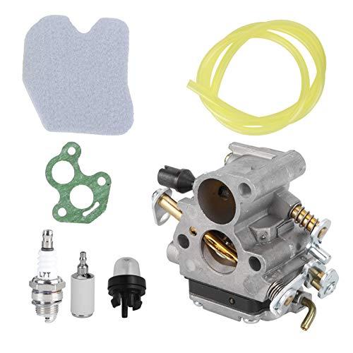 Carburador Materiales de aleación de aluminio Bombilla de imprimación del carburador Motosierra Estabilidad del carburador Filtro de aire de la motosierra, para Husqvarna 235 240 235E 240E