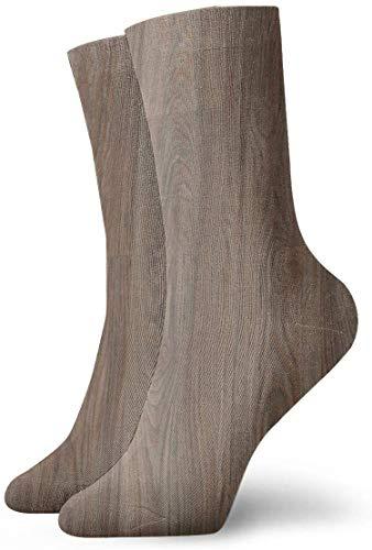 Paedto Antiche tavole di legno nei toni delle intemperie Calze a compressione antiscivolo Calze a girocollo da 11,8 pollici per uomo, donna, bambino