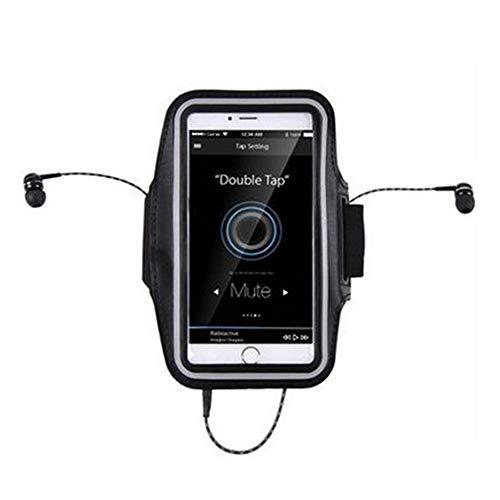 Outdoor Sports Arm Bag Unisex Outdoor Sports Arm mit Iphone6s Plus Handyhülle Multifunktionale Sportarmband Zum Laufen Workout Radfahren Wandern Joggen (Farbe : Schwarz, Größe : M)