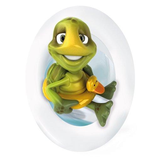 Wandkings Schildkröte mit Rettungsring, WC Deckel Aufkleber Sticker, 30 x 40 cm
