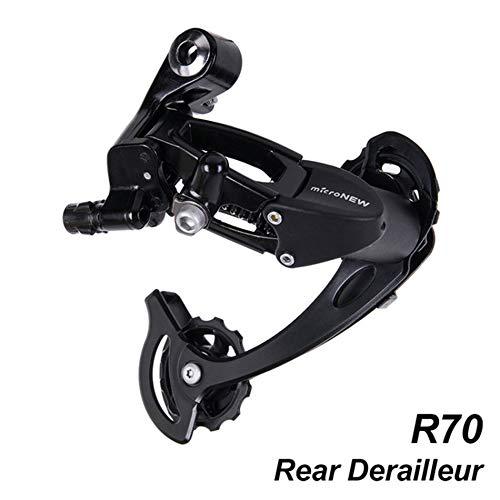Libertroy Bicicleta Bicicleta Accessproes MTB Speed Shifter de Cambio Trasero Compatible con Piezas m370 m430 m590 DEORE 27s 9s System-Black