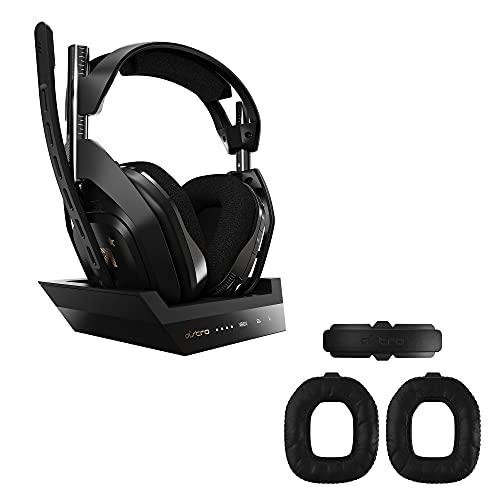 ASTRO Gaming A50 Casque sans Fil + Station de Charge Gamer + ASTRO Gaming A50 Casque sans Fil Kit Mod Gen 4 pour l'isolation du Bruit sans Fil