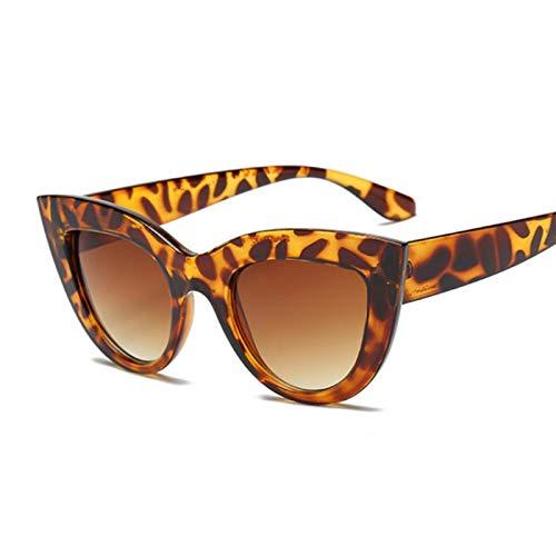 HAOMAO Diseñador de la Marca de Moda Puntos de Espejo Gafas de Sol de Ojo de Gato para Mujer Leopardo