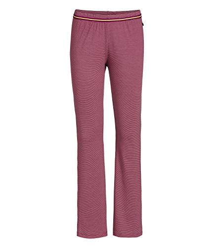 PiP Studio Damen Pyjamahose lang Pants Blair Shiny Stripe Trousers Long 260937, Farbe:Rot, Wäschegröße:M, Artikel:-red