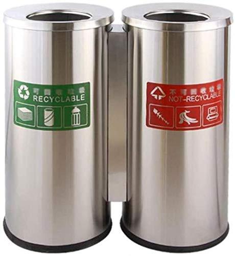 Vuilnisbakken grote prullenbak met roestvrijstalen binnenemmers.Recycling bakken | Ideaal for de keuken, kantoor en thuis papierbakken (Kleur: A) Kleur: E (Color : J)