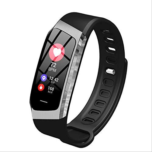 Toule - Smart wristband waterproof heart rate blood pressure monitor sports bracelet fitness watch smart Black and silver